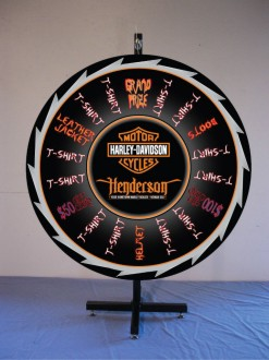 Custom Prize Wheels like this one for Harley Davidson Prize Wheel