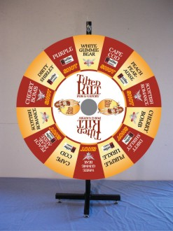 Custom Prize Wheels like this one for The Tilted Kilt Pub